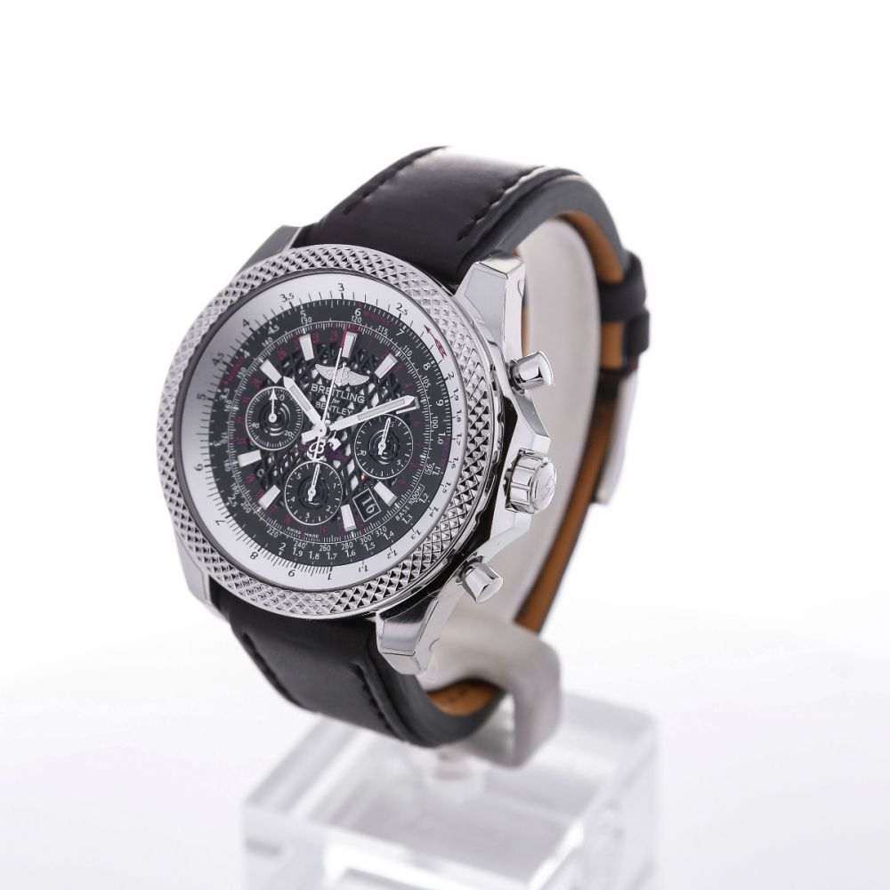 kal automatic breitling steel eta full chronograph zeitauktion en ref bentley